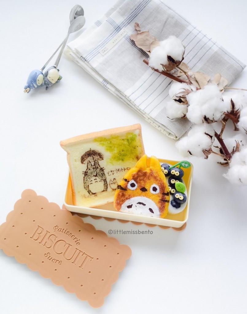 Totoro Toast Bento (3)