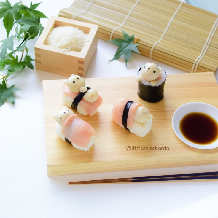 Teddy Bear Sushi Kawaii (1)
