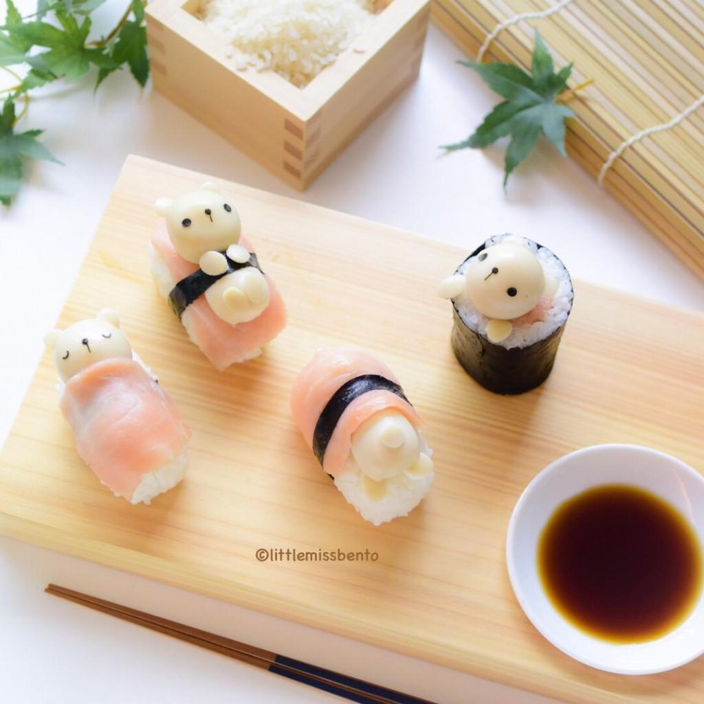Teddy Bear Sushi Kawaii (2)