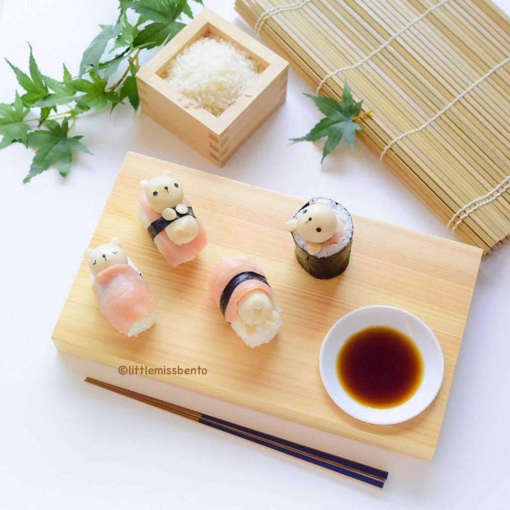 Teddy Bear Sushi Kawaii (4)