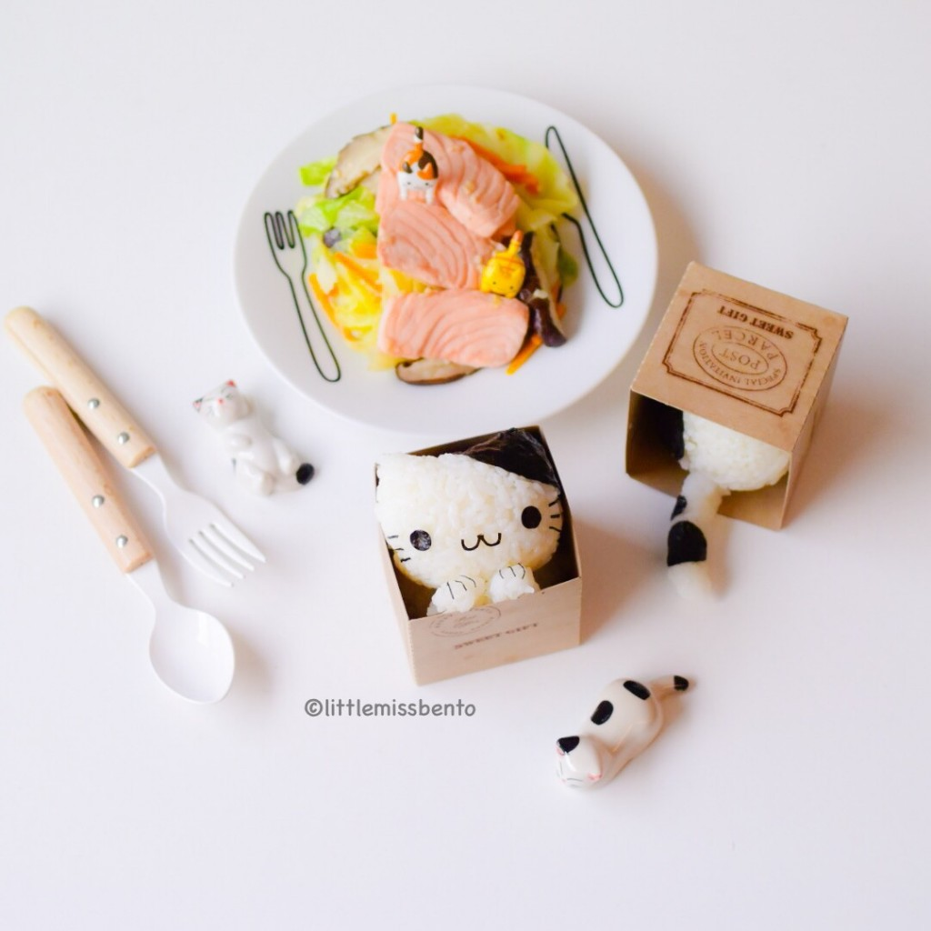 Cat in Box Onigiri kawaii (2)