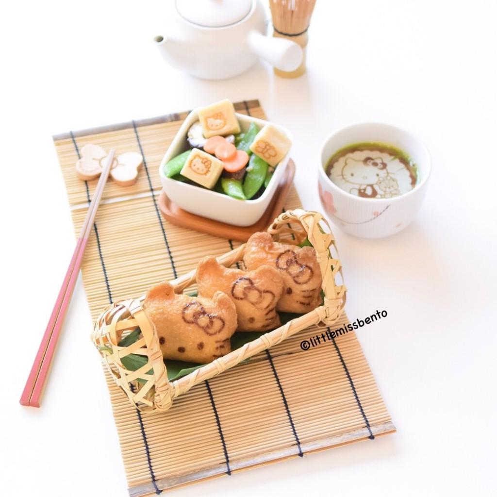 Hello Kitty Inari Sushi Bento (1)