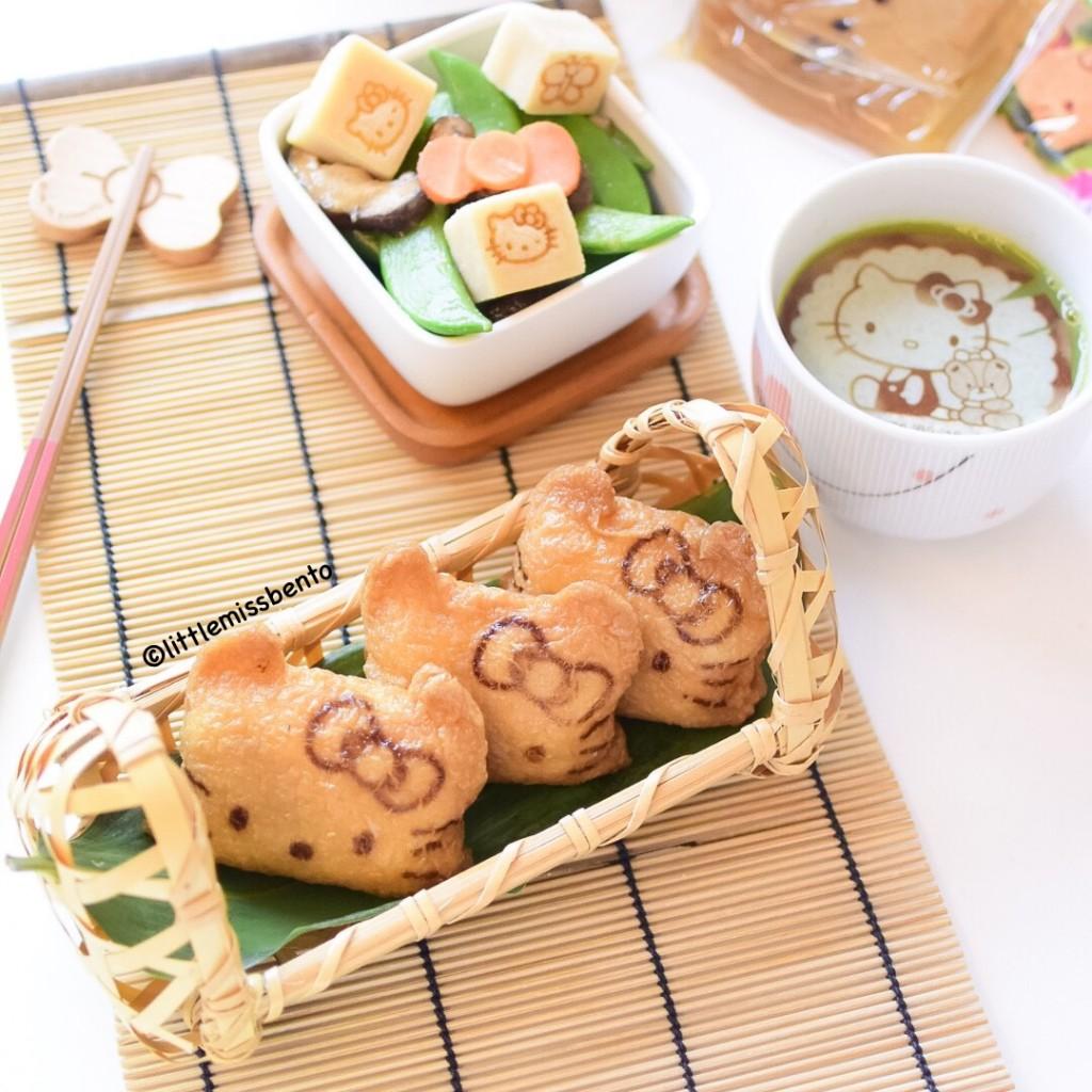Hello Kitty Inari Sushi Bento (3)