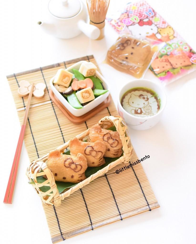 Hello Kitty Inari Sushi Bento (4)