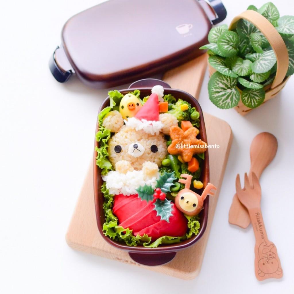 Rilakkuma Xmas Stocking Bento (3)