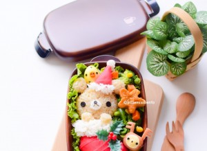 Rilakkuma Xmas Stocking Bento (3)