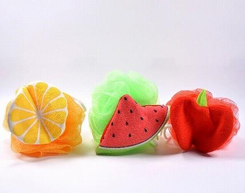 fruit bath sponges
